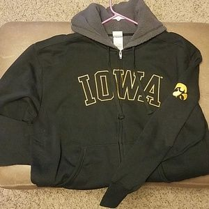 Iowa Hawkeye men's xl zip up hoodie